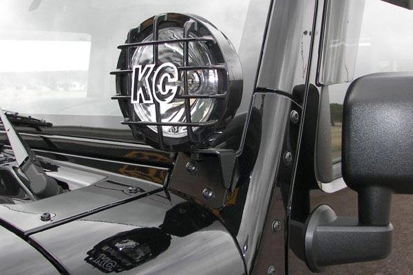 kc hilites windshield light mounting brackets installed