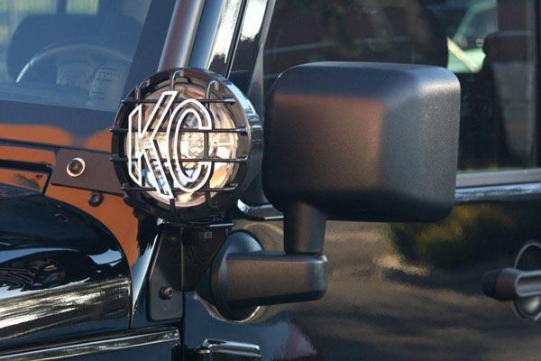 kc hilites windshield light mounting brackets jk installed