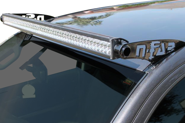 n fab light bar mounts tundra detail