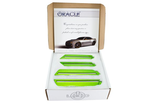 oracle concept side marker led lights synergy green camaro box
