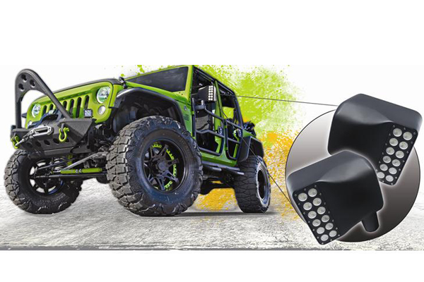 oracle led off road side mirrors jeep call out