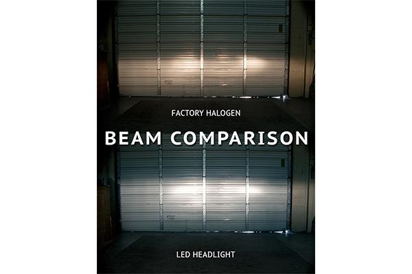 oracle premium led headlight bulb conversion kits beam comparison