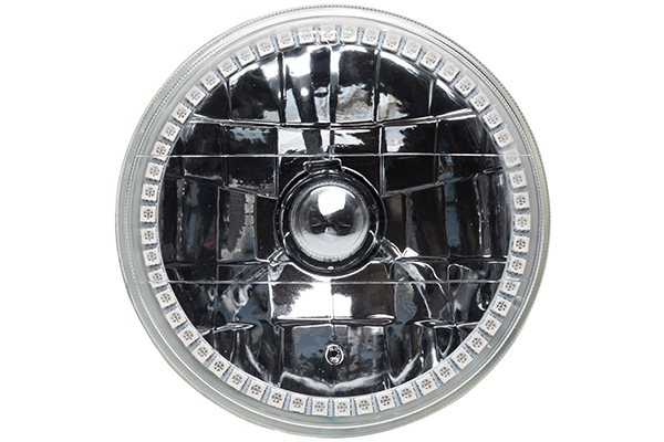 oracle sealed beam conversion headlights jeep rectangular installed round off