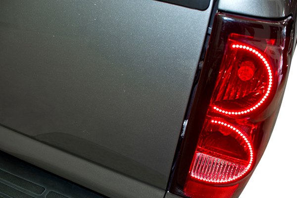 oracle tail light halo kits silverado installed