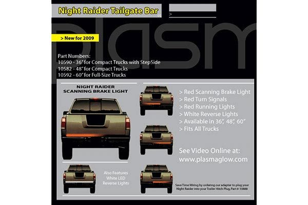 plasmaglow night raider tailgate bar related