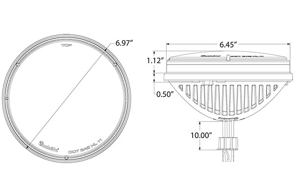 poison spyder led headlight schematic diminsions