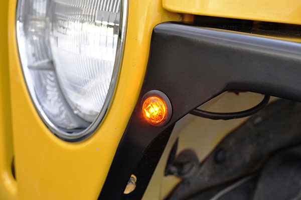 poison spyder led marker light round close up