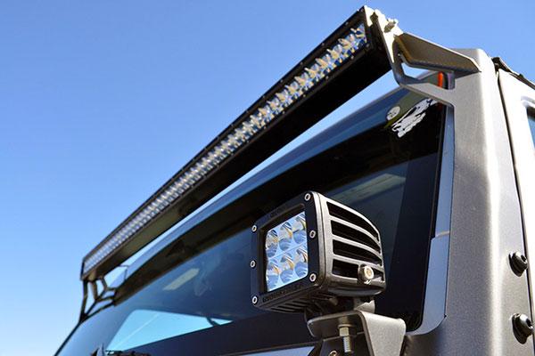 poison spyder windshield light bar mounts detail