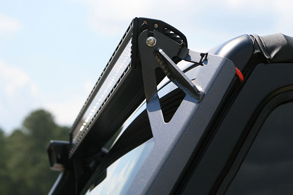 poison spyder windshield light bar mounts light bracket
