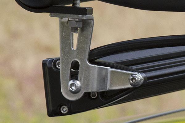 proz combo single row cree led light bars bracket detail