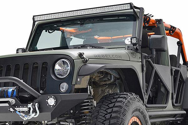 proz windshield light mounts installed 2