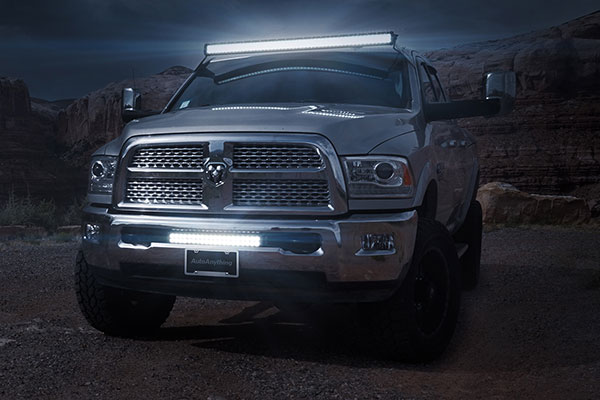 proz 50 double row led light bar lifestyle front