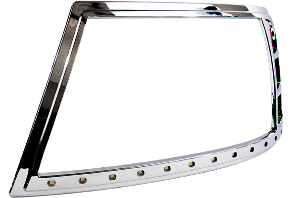 proz chrome led headlight bezels f150 detail