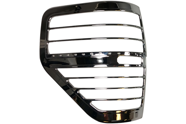 proz chrome led tail light bezels detail