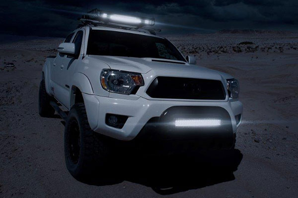 proz double row cree led light bars lifestyle tacoma