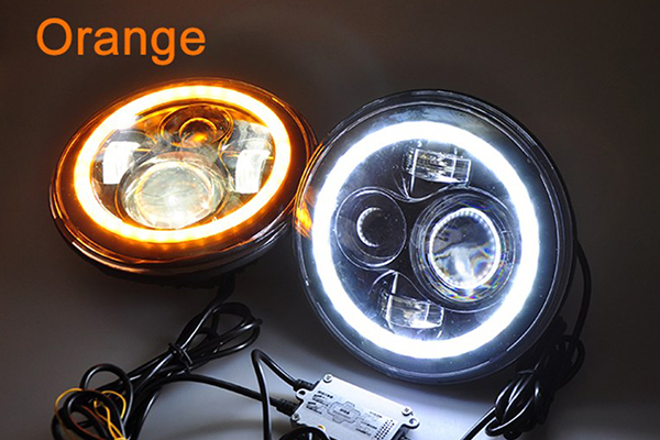 proz led replacement headlights amber hallow