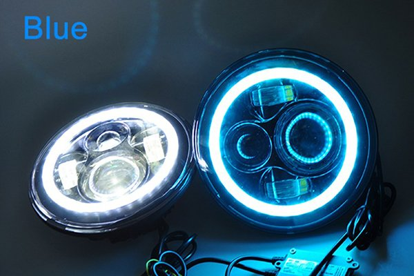 proz led replacement headlights blue hallow