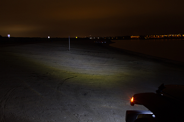 proz led replacement headlights on at night