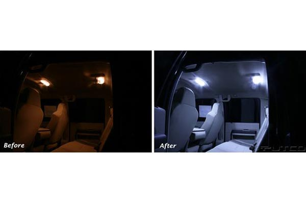 putco led dome light before after