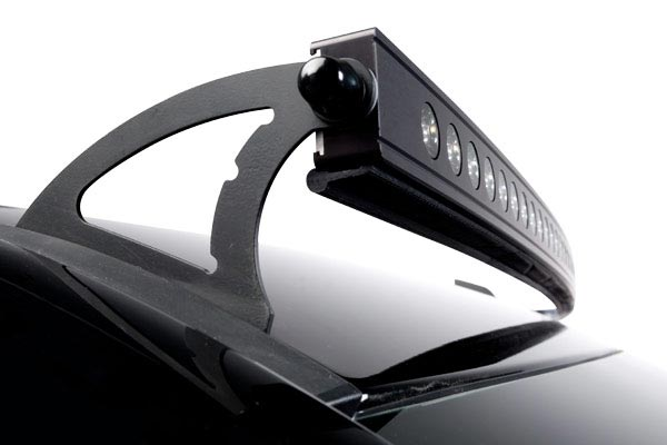 putco led light bar roof mount bracket kit installed