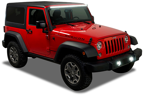 putco luminix led brackets jeep wrangler installed