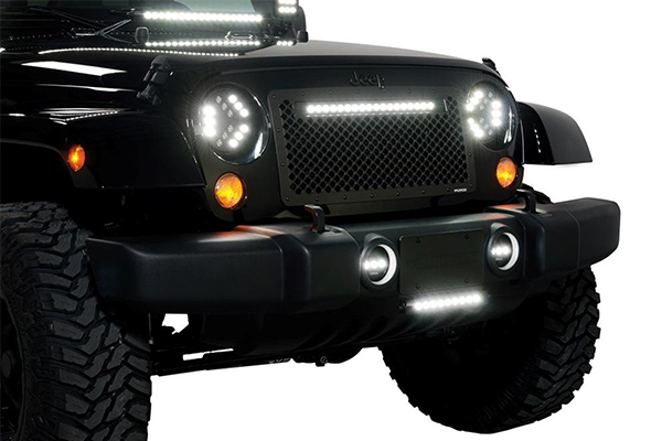 putco luminix led headlights jeep installed