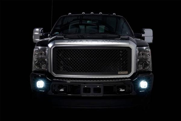 putco optic 360 led fog lamp bulbs installed ford superduty