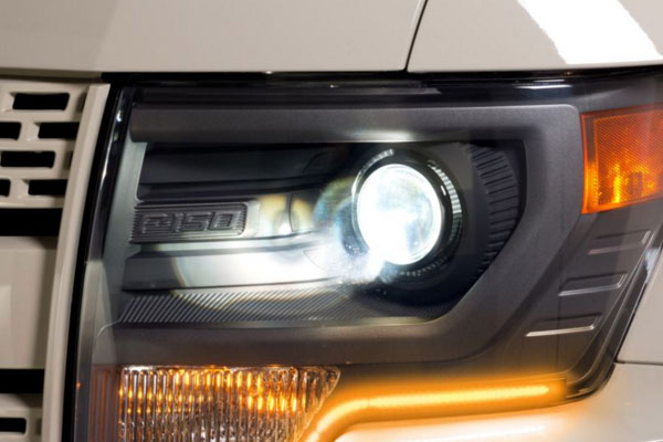 putco silver lux led headlight conversion kit installed