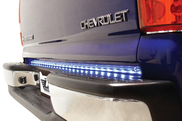 rampage tailgate led light bars reverse close up