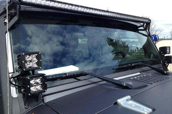 rigid industries a pillar light mount kits installed