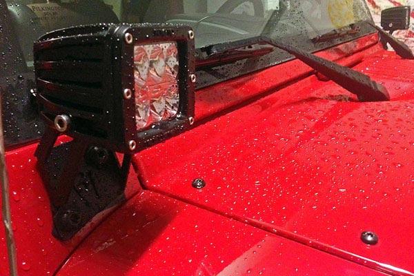 rigid industries a pillar light mount kits red jeep