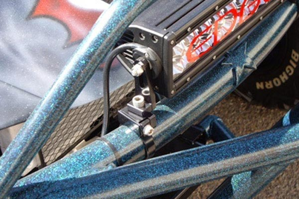 rigid industries adjustable bar clamp mounts in use