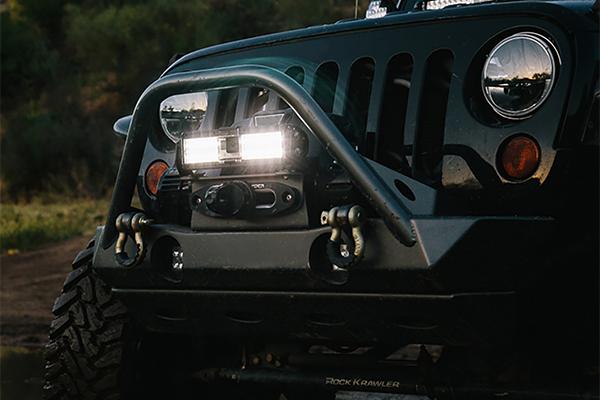 rigid industries capture led light bar installed wrangler