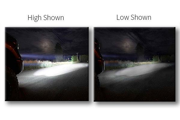 rigid industries d2 high low led lights comparison