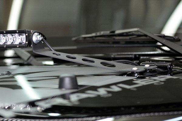 rigid industries hood lightbar mount kits detail