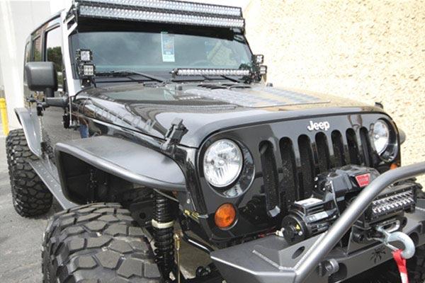 rigid industries hood lightbar mount kits installed