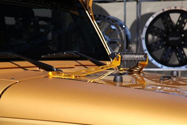 rigid industries hood lightbar mount kits on vehicle