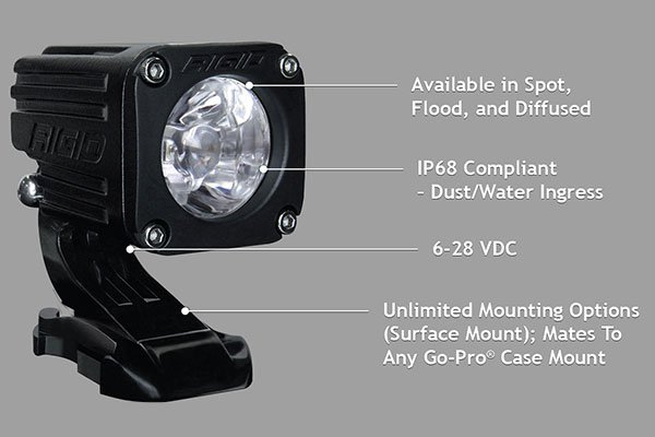 rigid industries ignite led lights chart