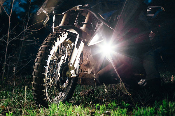 rigid industries ignite led motorcycle light kit installed 2
