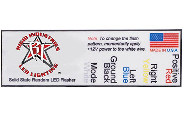 rigid industries led flashers label
