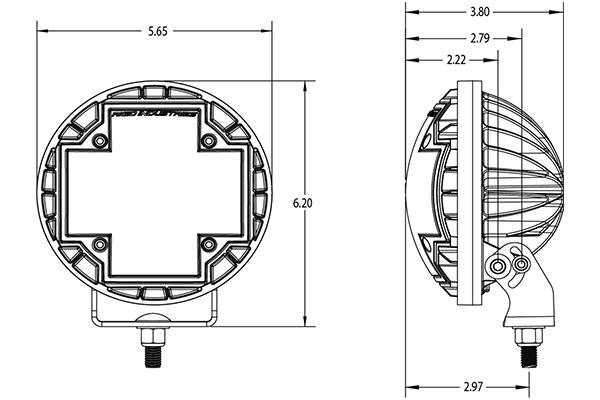 rigid industries r2 46 led lights dimensions