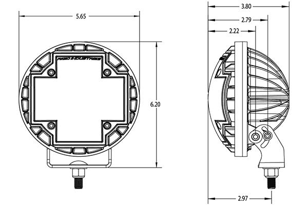 rigid industries r 46 led lights dimensions