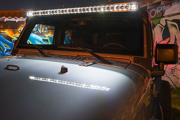 rigid industries radiance led light bars jeep closeup