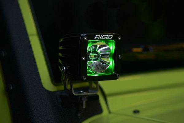 rigid industries radiance led light pod green