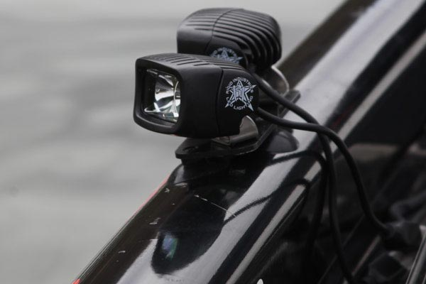 rigid industries suction cup light mount kit installed
