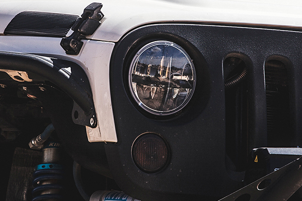 rigid industries truck lite headlights jeep jk detail