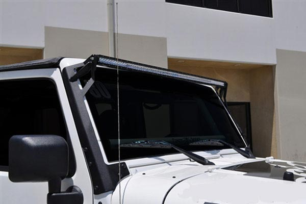 rigid industries windshield lightbar mount kits installed