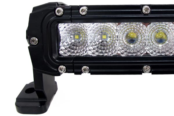 single row cree led light bars detail