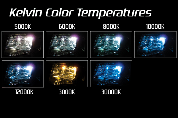 slim universal hid headlight kit kelvin temperatures