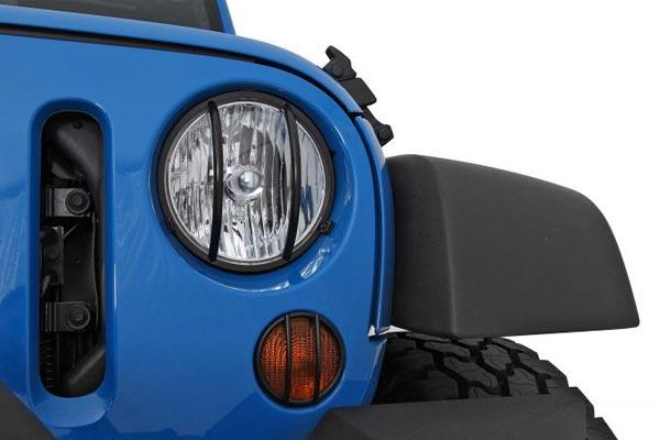 smitttybilt jeep euro turn signal light guard jk